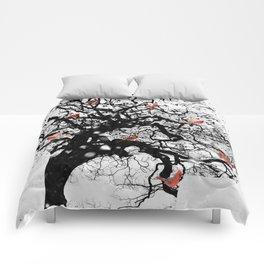 Red Birds in Snow by GEN Z Comforters