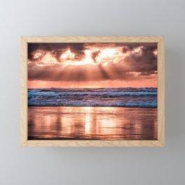 Northern California Sunset - Nature Photography Framed Mini Art Print