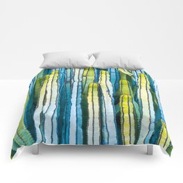 Colorful cactus painting Comforters