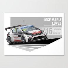 Jose Maria Lopez - 2015 Rio Hondo Canvas Print