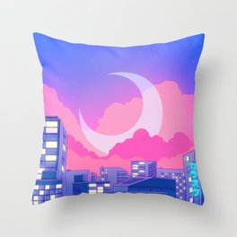 Dreamy Moon Nights Throw Pillow