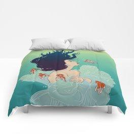 Underwater Lady Comforters