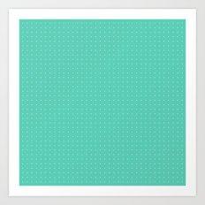 Mint spots pattern Art Print