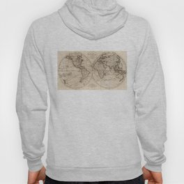 Old Fashioned World Map (1795) Hoody