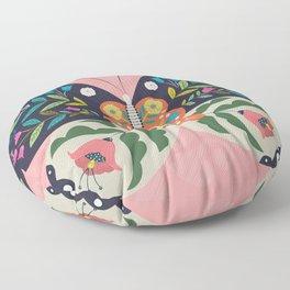 Folk Butterfly Floor Pillow