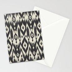 Black & Cream Tribal Ikat Stationery Cards