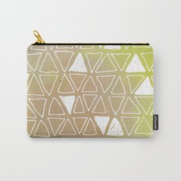 Tribal Watercolours - in Sunset Yellow Carry-All Pouch