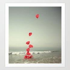 the love towards the sea Art Print