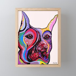 Doberman Framed Mini Art Print