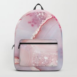 Pink Dreamy Rose Blush Agate Backpack