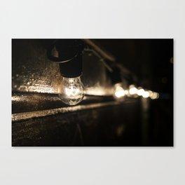 Street bulbs Canvas Print