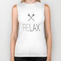 lacrosse Biker Tanks featuring Relax Lacrosse LAX by RexLambo