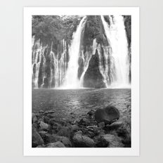 Places in Black & White: Burney Falls 15 Art Print