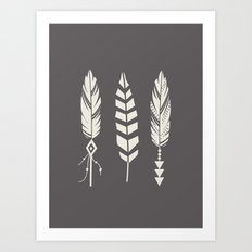 Gypsy Feathers Art Print