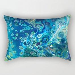 Fluid Nature - Marine Odyssey - Abstract Acrylic Art Rectangular Pillow