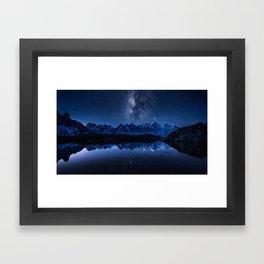 Night mountains Framed Art Print
