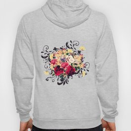 Roses and lilac. Beautiful victorian design Hoody
