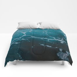 Marble ocean Comforters