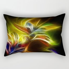 Night Bloom Digital Rectangular Pillow