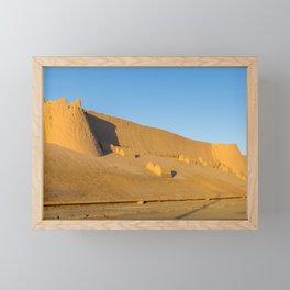 Khiva City Wall - Uzbekistan Framed Mini Art Print