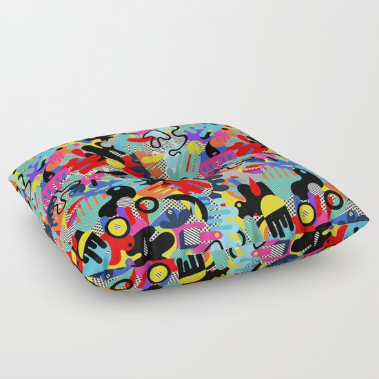 Color blobs 002 Floor Pillow