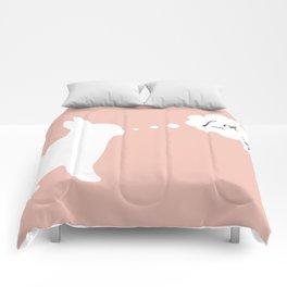 Fuck Off Original Rabbit Censored Comforters