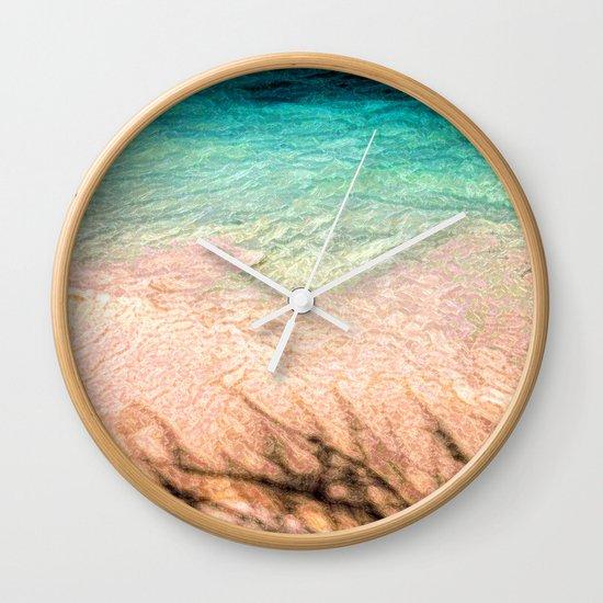 SEA AND TREE Wall Clock