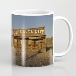 Scene at the Castle Dome City ghost town once the boomtown surrounding the Castle Dome mining distri Coffee Mug
