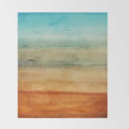 Abstract Seascape No 4: the beach Throw Blanket