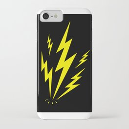 Electric Lighting Bolts iPhone Case