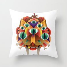 The All Seeing Cat Throw Pillow