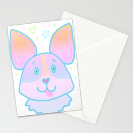 Adorable Pastel Corgi Stationery Cards