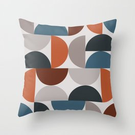 Mid Century Modern Geometric 25 Throw Pillow