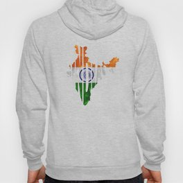 India World Map / Indian Typography Flag Map Art Hoody