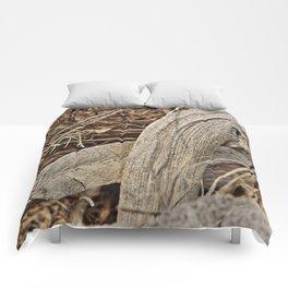 Still life in palm bark Comforters