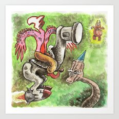 The Rocketleg and the Shaman Art Print