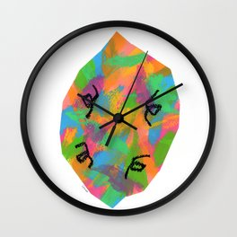 Colorful Lemon Modern Abstract Painting Simple Fruit Wall Clock