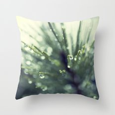 Fir Water Droplet Throw Pillow