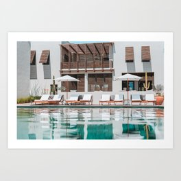 Poolside in Todos Santos Art Print
