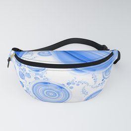 Baby Blue Bubbles in an Ozone Sky of Cloudy White Fanny Pack