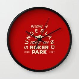 Roker Park Football Ground Wall Clock