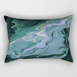 Teal Turbulence Rectangular Pillow