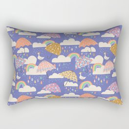 Spring Showers with Ducks Rectangular Pillow