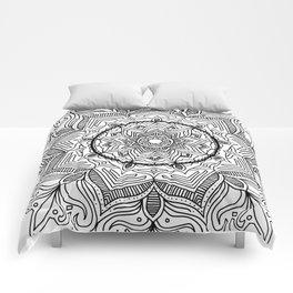Black Flower Mandala Comforters