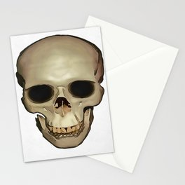 Antique Human Skull Stationery Cards