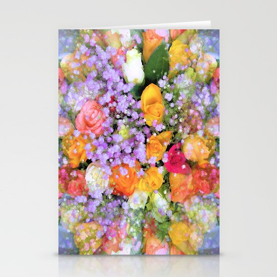Bokeh Bouquet Stationery Cards