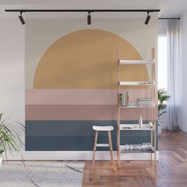 Neutral 70's Minimal Sunset Wall Mural