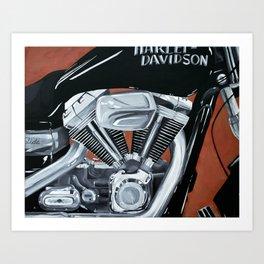 Harley Rider Art Print