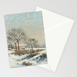 Camille Pissarro - Snowy Landscape at South Norwood Stationery Cards
