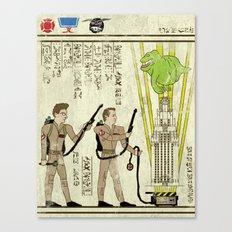 hero-glyphics: Slimed Canvas Print